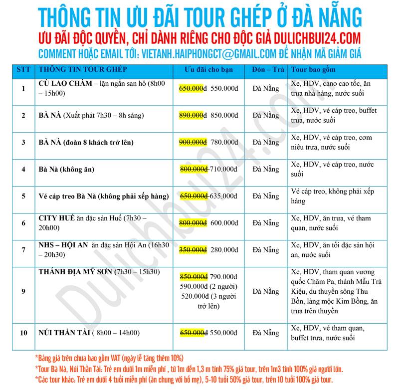 tour ghép giá rẻ ở đà nẵng