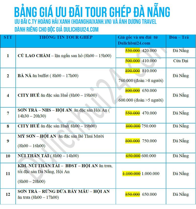 tour ghép giá rẻ tại đà nẵng