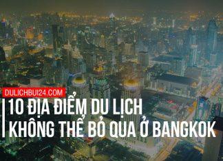 địa điểm du lịch nổi tiếng ở bangkok