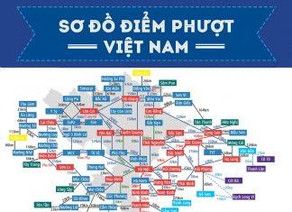bản đồ điểm phượt Việt Nam