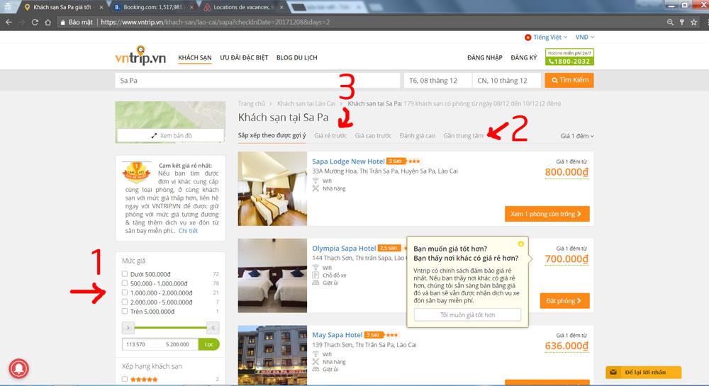 nên thuê khách sạn ở đâu khi đi du lịch sapa
