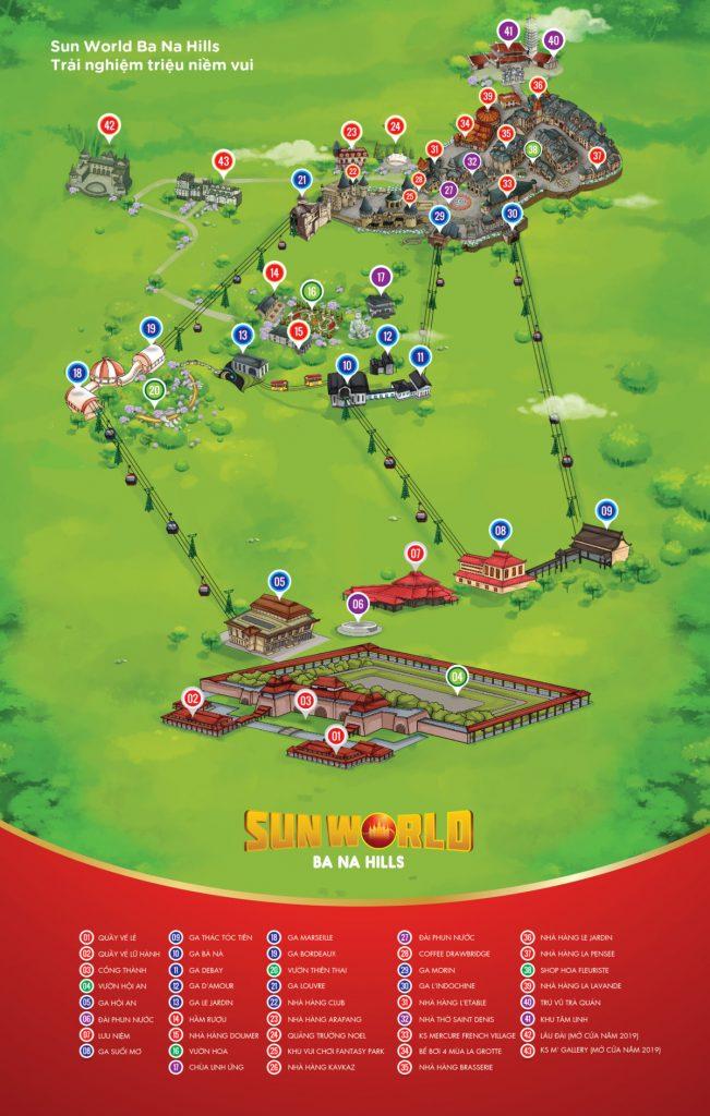 Bản đồ du lịch Bà Nà Hills