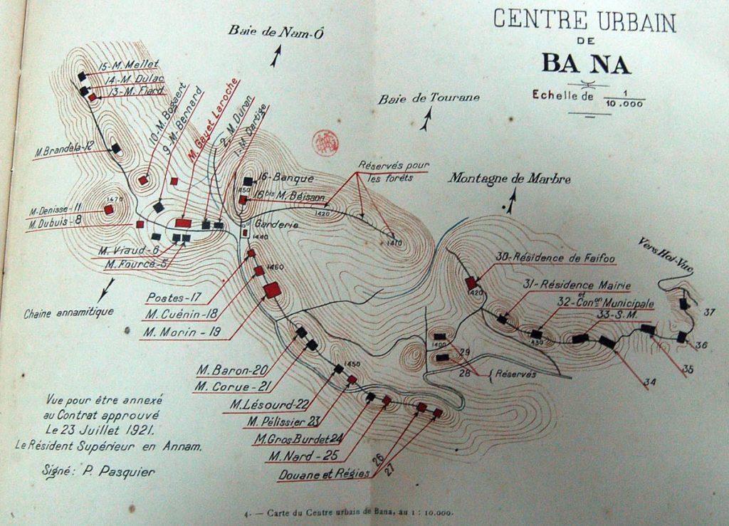 bản đồ quy hoạch khu du lịch Bà Nà Hill