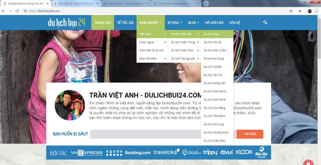hướng dẫn tìm kiếm thông tin trên dulichbui24.com