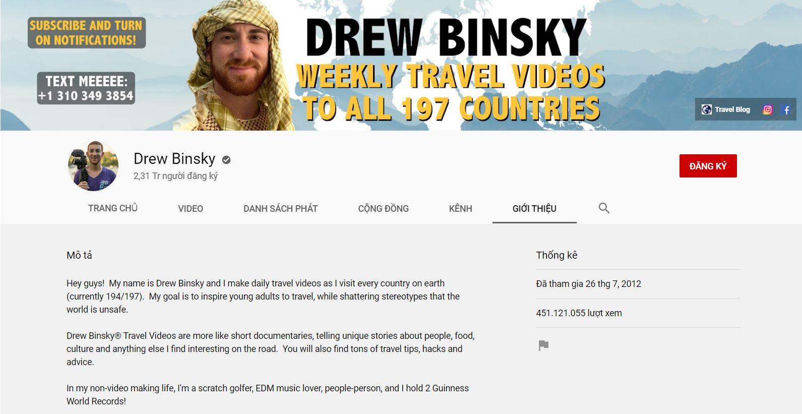 drew binsky - travel blogger nổi tiếng thế giới