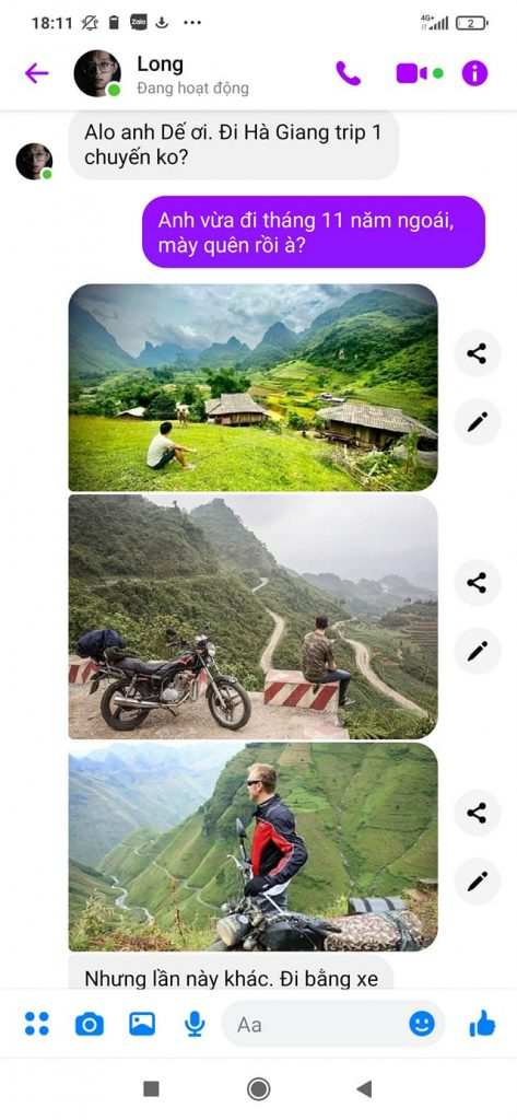 Lời rủ rê của những đứa bạn đi tour xe máy hà giang