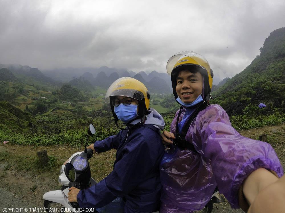 Đi tour xe máy Hà Giang ngày trời mưa